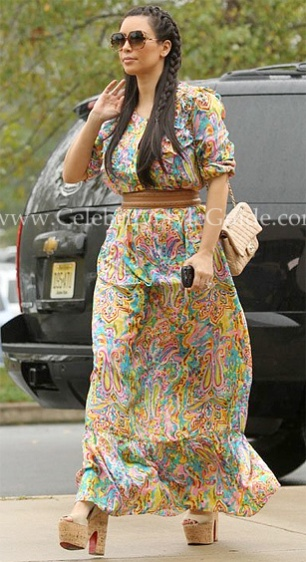 Kim-kardashian-Collette-by-Collette-Dinnigan-Printed-Silk-Maxi-Dress