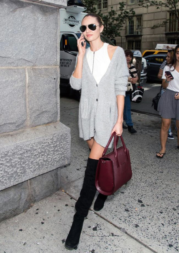 Le-Fashion-Blog-Candice-Swanepoel-Oversized-Cardigan-Thigh-High-Boots-Model-Off-Duty-Street-Style-NYFW